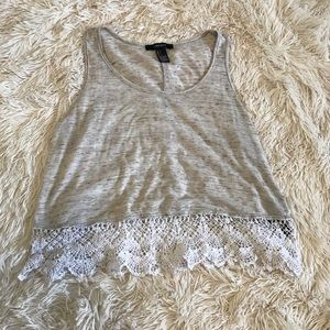 Forever 21 Lace Trim Tank